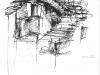 Verlassenes Dorf Bambusfeder Tusche