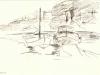 Hafen auf Mallorka 2 Feder Tusche
